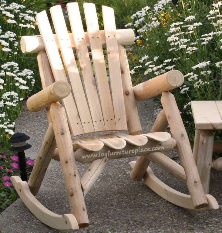 Contoured Comfort Log Rocking Chair. Log FurnitureOutdoor ...
