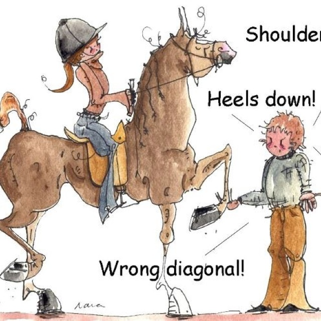 Horse riding trainers! So relatable