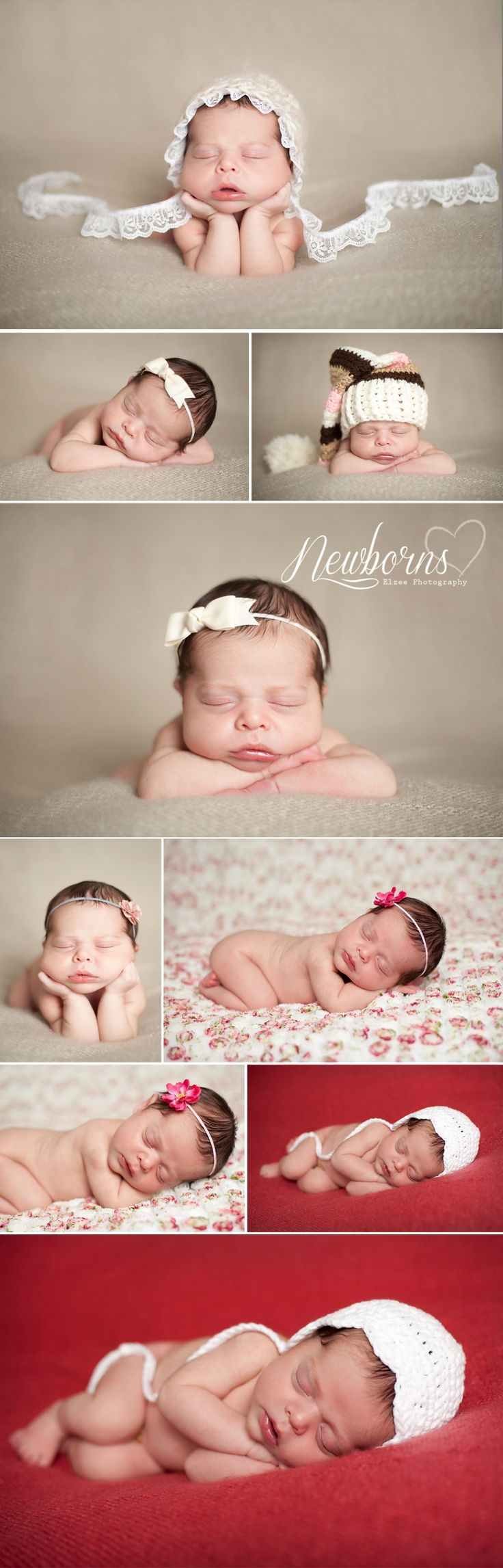 Newborn Baby Girl Photography maybe a vail or a bow tie for a boy