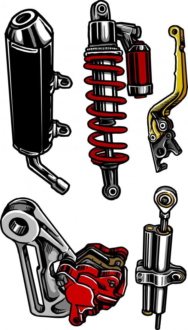 Motorcycle Parts Di 2020 Dengan Gambar Desain Logo Gambar