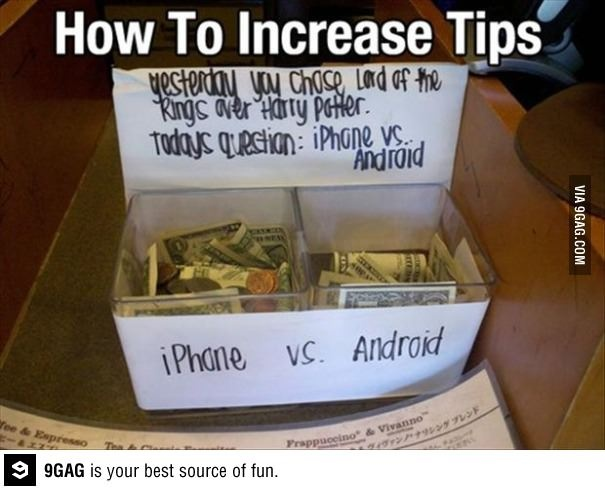 How to increase tips - or raise money for a charity event?