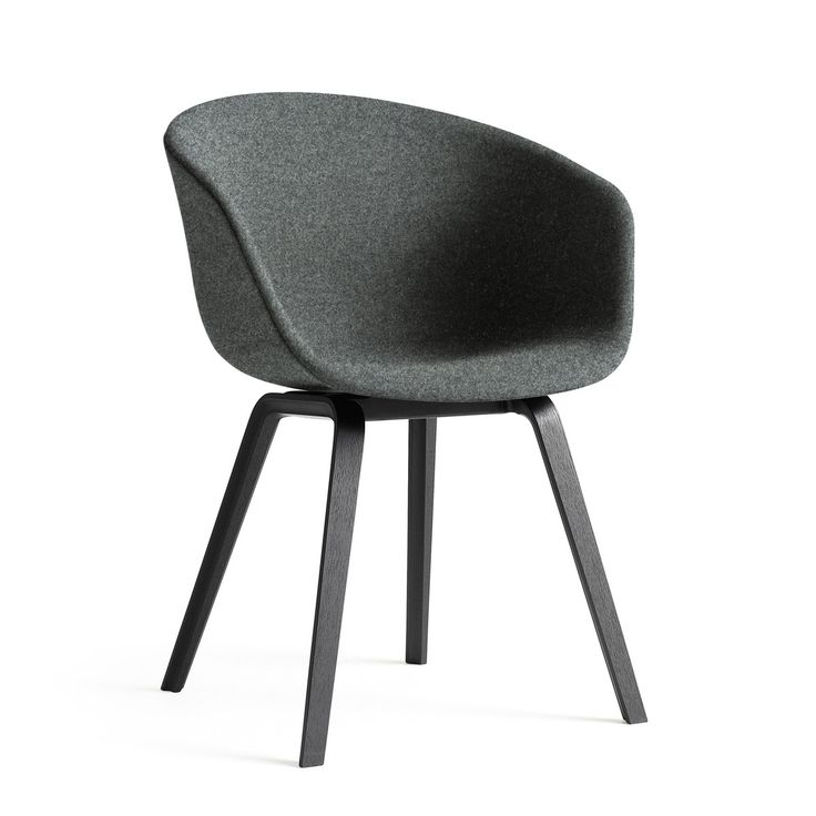 Hay - About A Chair AAC 23, Holz-Vierbeingestell schwarz / Vollpolster Divina Melange 2 Farbe 170