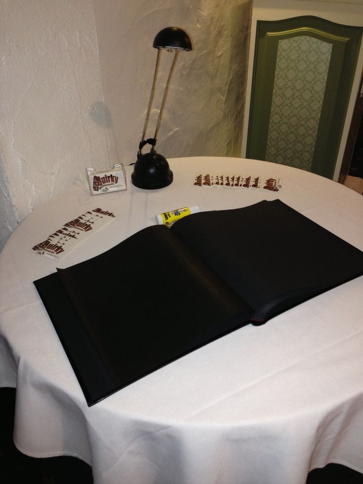 Our guestbook ready to be assembled by your photobooth attendant
