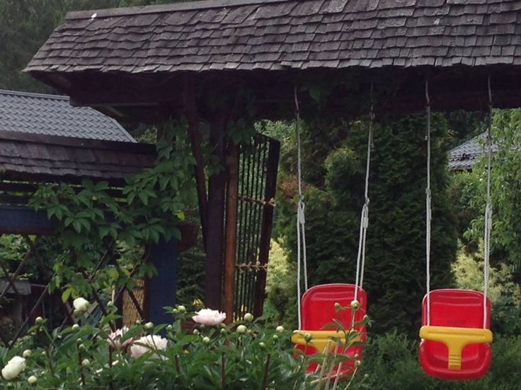 Japanese gate and baby swings. Design by Helena Kemppainen