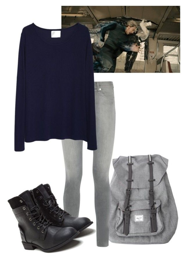 """""""Just realized I look like QuickSilver (actual outfit) //Mara"""" by misscreepyashell ❤ liked on Polyvore featuring Herschel, rag & bone and La Garçonne Moderne"""