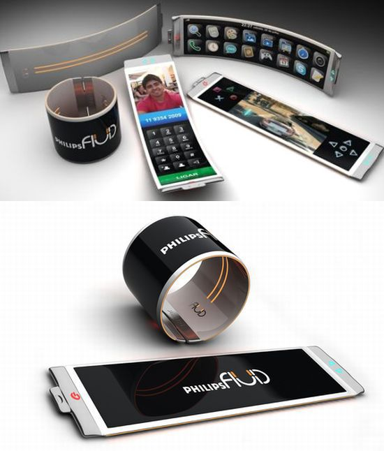 Concept Philips phone that rolls into a watch