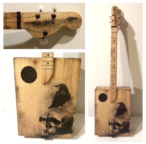 Old Crow Cigar Box Guitar by OldCrowCustoms on Etsy