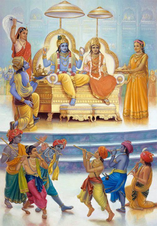 Cowherdboys Perform for Lakshmi and Narayana
