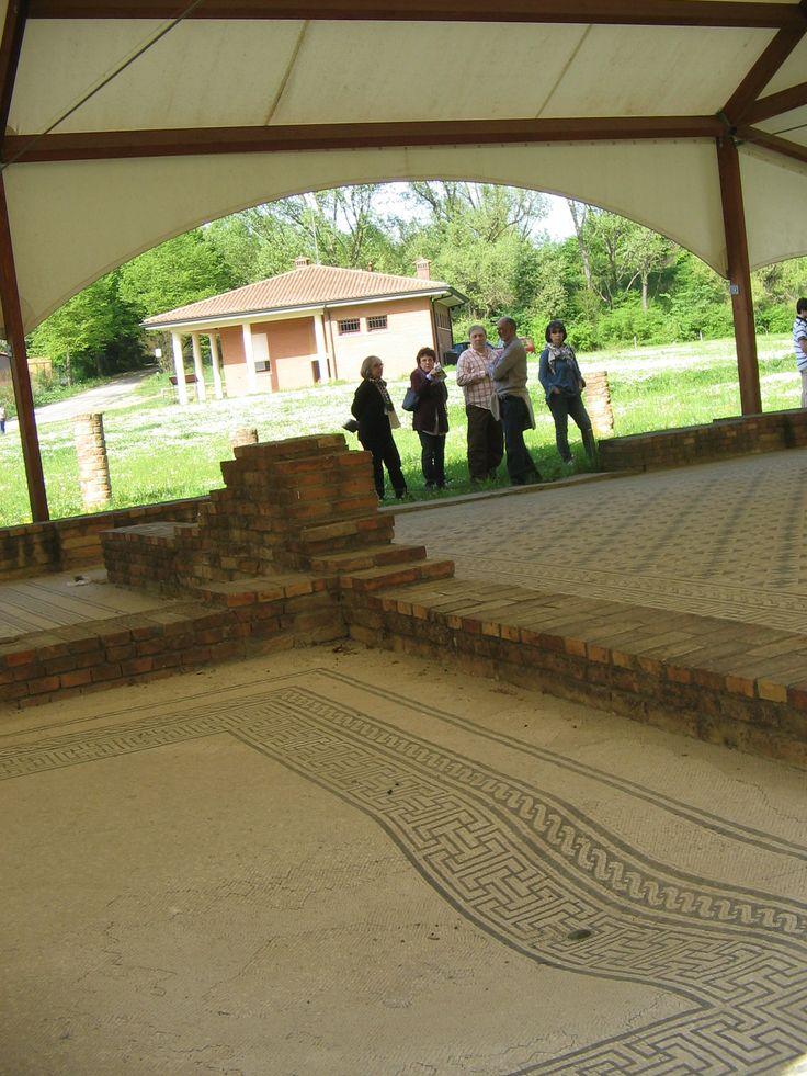 Villa Romana, via Fiumazzo, Russi (RA), Italy. Sito archeologico di grande interesse