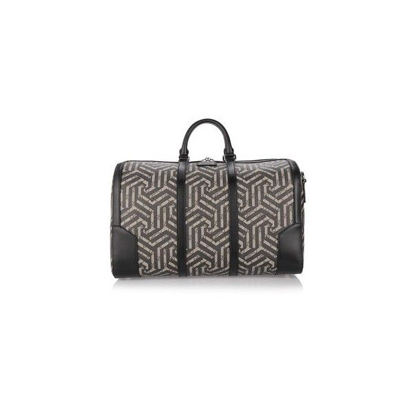 GUCCI GG 'Caleido' Holdall (112.740 RUB) ❤ liked on Polyvore featuring men's fashion, men's bags, black, mens holdall bag y mens leather bag