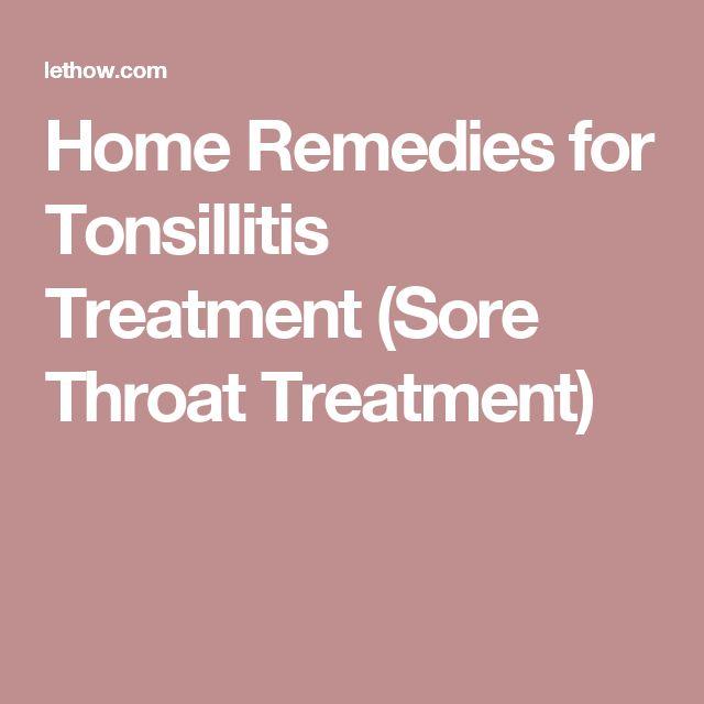 Home Remedies for Tonsillitis Treatment (Sore Throat Treatment)