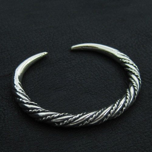 Silver Viking bracelet by Sulik on Etsy