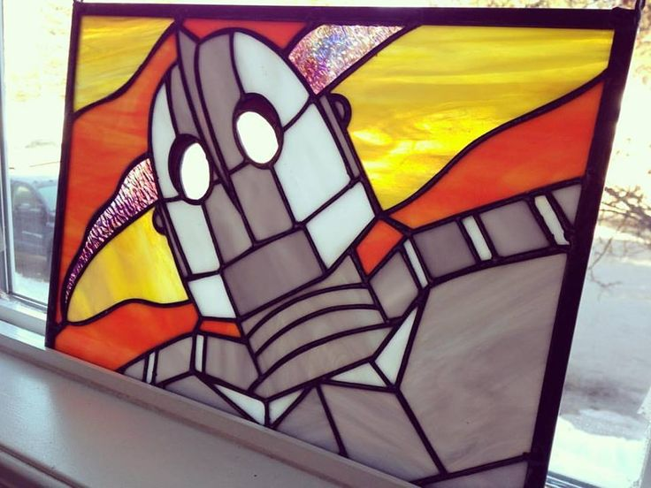 Iron Giant Stained Glass by Petri Rantanen