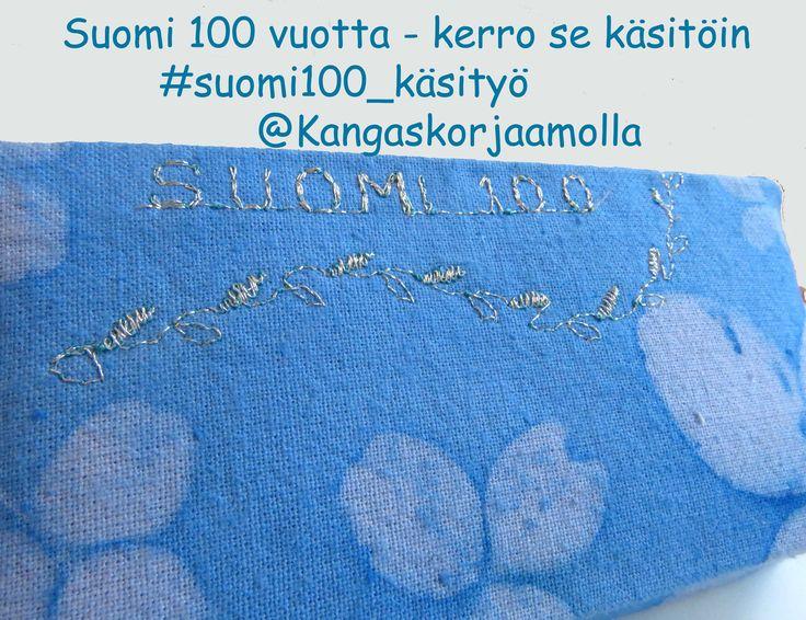 Osallistu suomi 100 -vuotta teemakäsitöihin Kangaskorjaamolla blogissa https://kangaskorjaamolla.blogspot.fi/2017/01/suomi100-teemakasityo.html