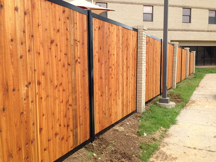 Fencetrac Privacy Fence Builder Fence Builders Fence Construction Backyard