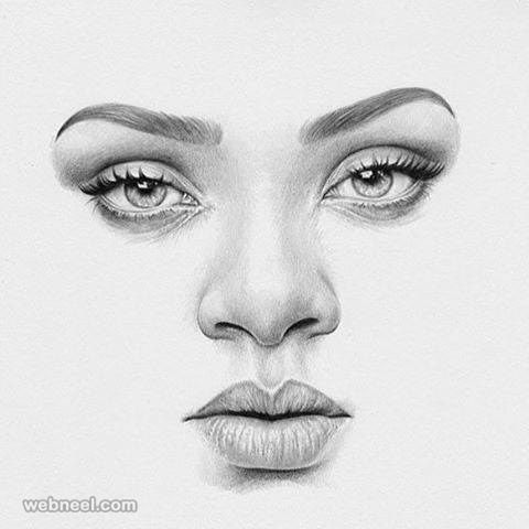 Face pencil drawing by ta abe http://webneel.com/40-beautiful-and-realistic-pencil-drawings-human-eyes | Design Inspiration http://webneel.com | Follow us www.pinterest.com/webneel