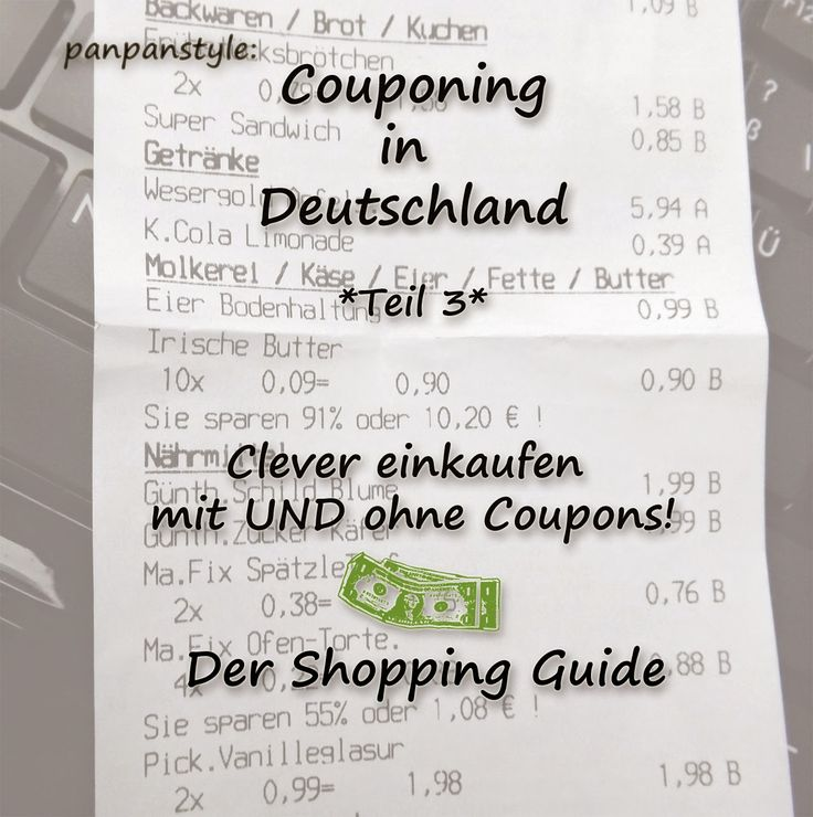 panpancrafts: panpanstyle: Couponing in Deutschland - Teil 3 - Der Shopping Guide