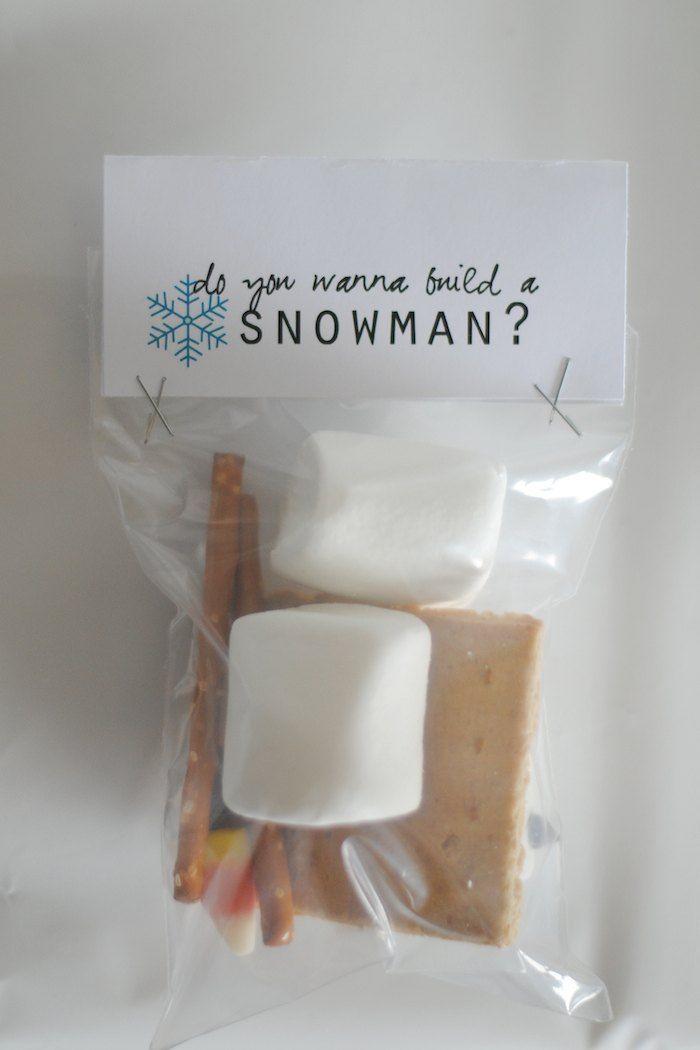 """Do you want to build a snowman?"" Frozen themed birthday party with Such Cute Ideas via Kara's Party Ideas KarasPartyIdeas.com"