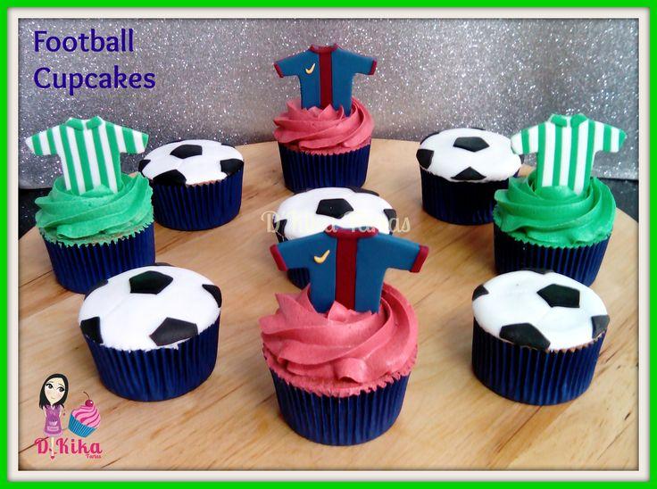 Futball cupcakes