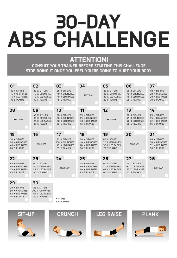 25 best ideas about 30 day abs on pinterest 30 day workout challenge 30 day squat challenge. Black Bedroom Furniture Sets. Home Design Ideas