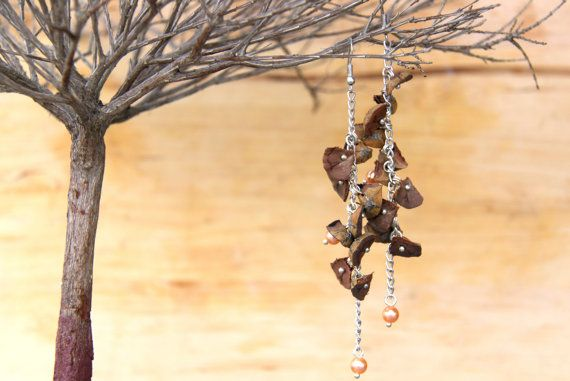 unique pine cone earings ''pinus''  one of a by treasuresbychrispa #teamupcyclers