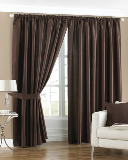 Model Of Fiji Pencil Pleat Curtains Chocolate Ready Made Curtains Beautiful - ready made curtains Modern