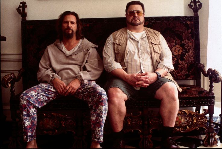 Jeff Bridges as The Dude with John Goodman as Walter Sobchak in #TheLebowski (1998).