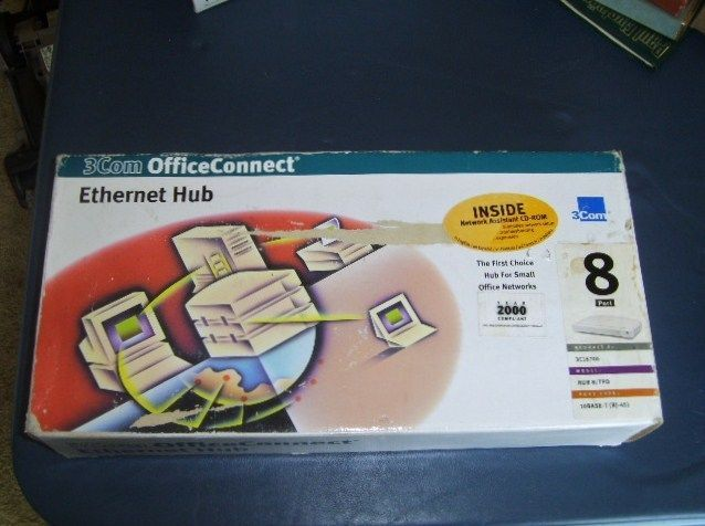 Ethernet Hub 3Com Office Connect Networking Made Simple 3C16700  8 Port #3Com