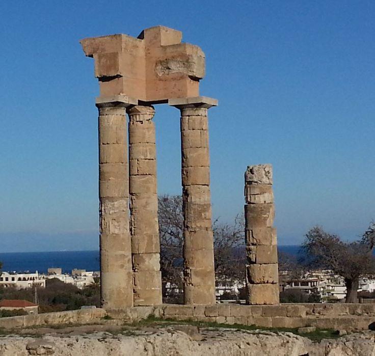 The Temple Of Apollo on Monte Smith!  https://theislandofrhodes.com/the-ancient-rhodes