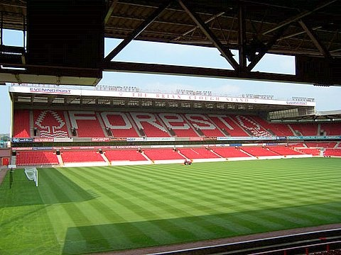 The City Ground is a football stadium home to Nottingham Forest Football Club. It's only 300 yards away from Notts County's stadium Meadow Lane, which makes them the closest professional football stadiums in England.