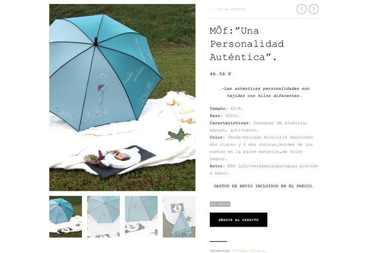 """"""" Una Personalidad Auténtica"""".Paraguas Sinvergüenza pintado a mano por MÔf. www.moflasinverguenza.com"""