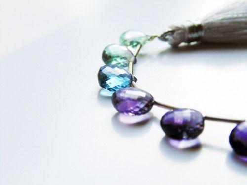 Rainbow fluorite gemstones