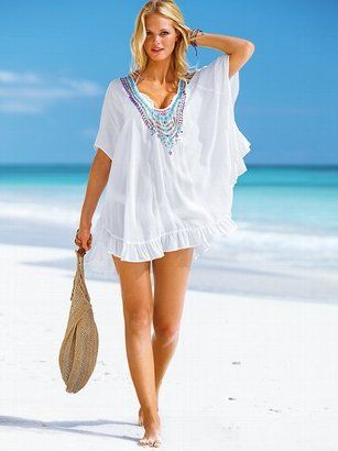 Beach Sexy Embellished Caftan Cover-up