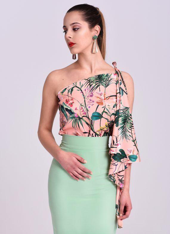De Estampada Flores Rosa Nude Blusa BlusasVestidos JiroModa Y Yb6yg7vf