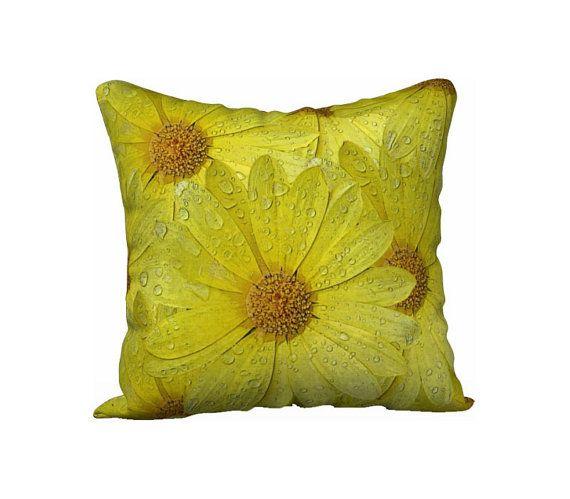 Yellow Pillow Case Printed Pillow Cover Lumbar Pillow Sham