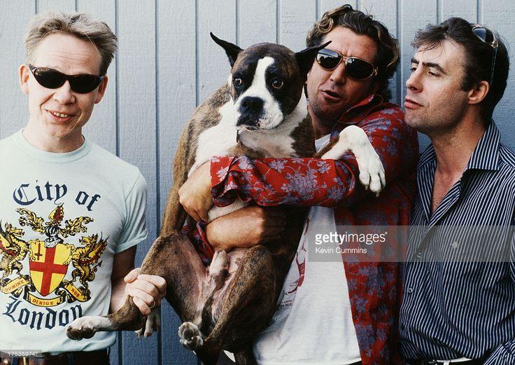 Paul Cook, Steve Jones and Glen Matlock of English punk band the Sex Pistols, 1996.