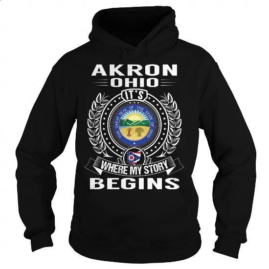 Akron, Ohio Its Where My Story Begins - #the first tee #t shirt websites. CHECK PRICE => https://www.sunfrog.com/States/Akron-Ohio-Its-Where-My-Story-Begins-Black-Hoodie.html?60505