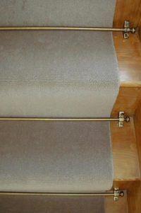 Tringles pour tapis d'escaliers Celtic - Décor Laiton vieilli - Embouts ronds
