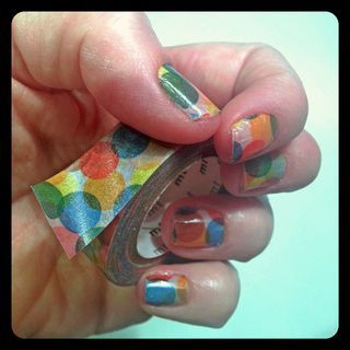 washi tape nails