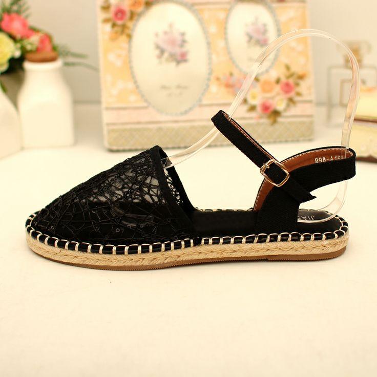 Корейская версия тростника, льна слово пряжки сандалии моды блестками сандалии Баотоу летом 2014 новые туфли - Taobao