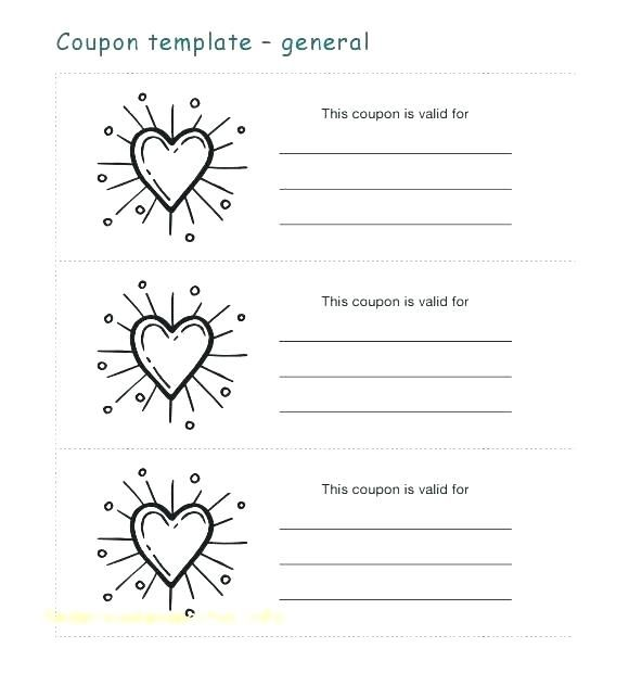 Romantic Coupon Template Free Invoice Template Word Love Coupon