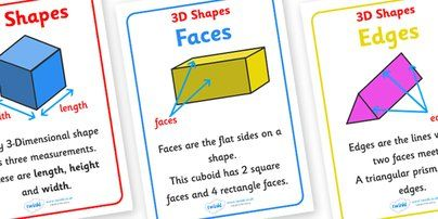 Twinkl Resources >> #3D Shape Properties Display Posters# >> Printable resources for Primary, EYFS, KS1 and SEN.  Thousands of classroom displays and teaching aids! #3D Shapes#