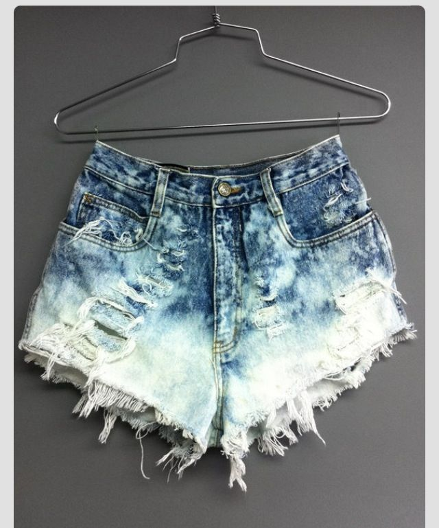 diy distressed high- waisted shorts.