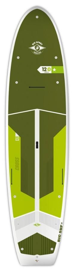 BIC Sport Ace-Tec Cross Fish Stand Up Paddle Board - 12' Gloss White/Green 12 Ft