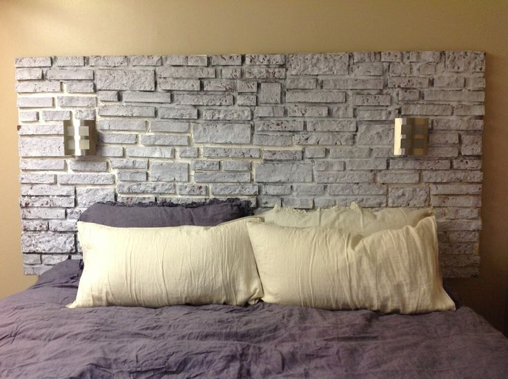 Brick headboard... This was a 5 weekend project! Picture