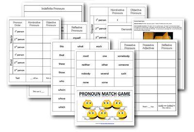 Pronoun Match-Up Game (C2, W2-W6, W8-W13)