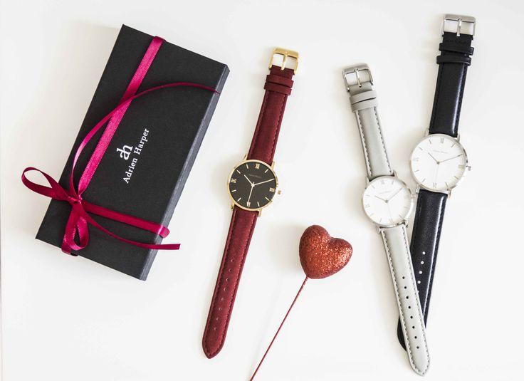 Gold and red women's watches  Valentines Day Adrien Harper  Designed in Sydney, Australia Unisex Watches