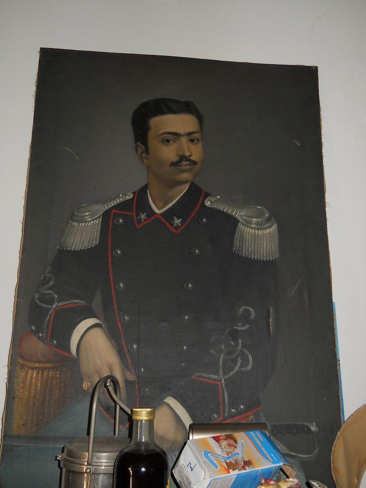 quadro l'800 ritratto militare