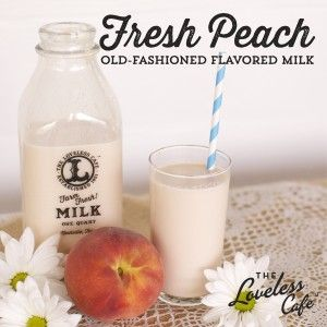 Fresh, ripe peaches take this flavored milk to a whole new level! Can you say yum? - click for the recipe -