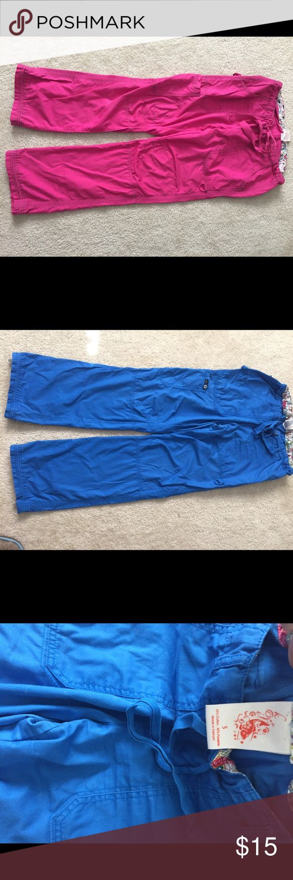 Koi scrub pants size S in bright pink/ raspberry Worn couple times. On pink a little bit of inc on the side of pocket. . Otherwise  in great condition! Multiple features- several pockets, D ring for stethoscope holder. Number 1 seller pants on uniform market👌Would of never put them for sale but unfortunately not allowed to use those colors any longer 😫Love love love these💕💕💕💕💕💕 koi Pants